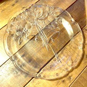 Mikasa Holiday Bells Crystal platter